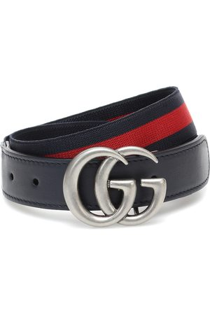 Gucci GG leather-trimmed belt