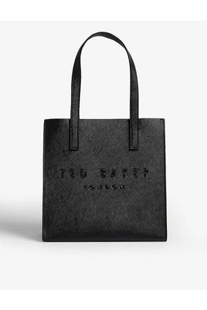 Ted Baker Icon small crosshatch faux-leather shopper