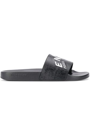 Givenchy Logo print leather slides