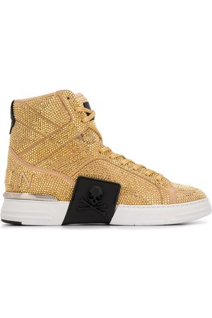 Philipp Plein Rhinestone-embellished high-top sneakers
