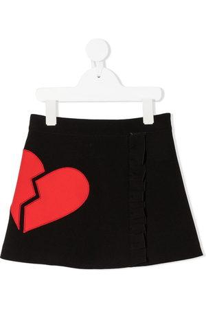 Msgm Girls Skirts - Broken heart mini skirt