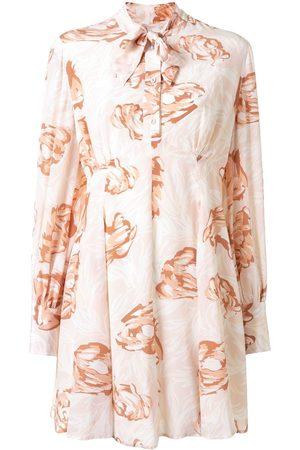 Karen Walker Women Printed Dresses - Gardenesque floral-print silk dress