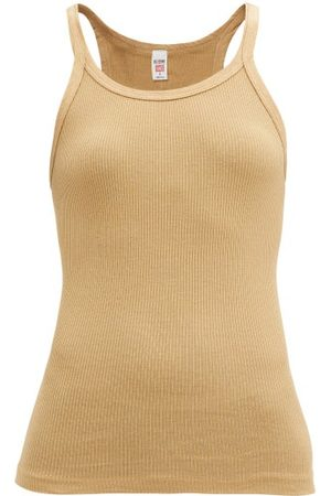 RE/DONE Ribbed Cotton Camisole - Womens