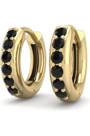SuperJeweler 1/3 Carat Black Diamond Men's Hoop Earrings in 14K (3.50 g)