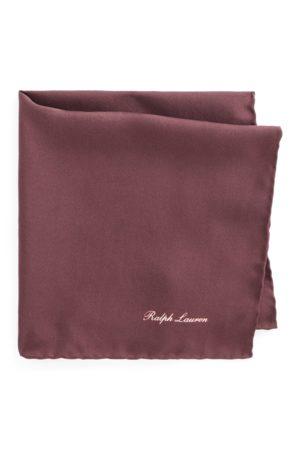 Ralph Lauren Mulberry Silk Pocket Square