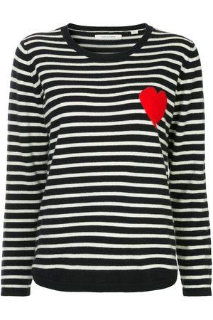 Chinti And Parker Women Jumpers - Breton stripe heart jumper