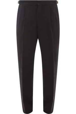 Umit Benan B+ Side-stripe Wool-blend Trousers - Mens