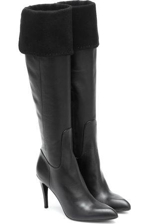 Max Mara Bonnet knee-high leather boots