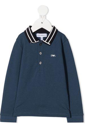 Emporio Armani Polo Shirts - Striped collar polo shirt