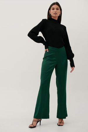 Paola Locatelli x NA-KD Recycled V-Shaped Waist Suit Pants - Green