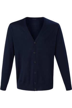 Louis Sayn Men Cardigans - Cardigan made of 100% pure new wool size: 38