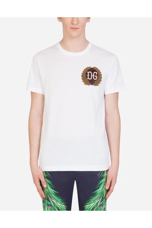 Dolce & Gabbana T-Shirts and Polos - COTTON T-SHIRT WITH DG PATCH