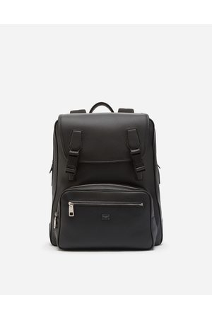 Dolce & Gabbana Collection - PALERMO BACKPACK IN HAMMERED CALFSKIN WITH BRANDED PLATE