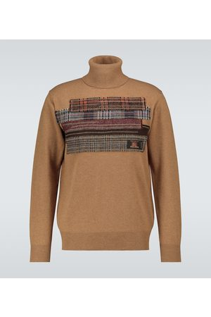 JUNYA WATANABE Patchwork wool turtleneck sweater