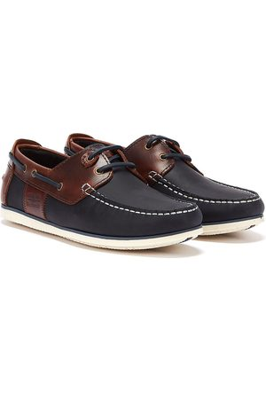 Barbour Mens Navy/Brown Capstan Boat Shoes