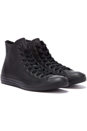 Converse All Star Hi Womens Monochrome Leather Trainers