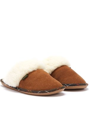 Barbour Lydia Mule Suede Womens Camel Tan Slippers