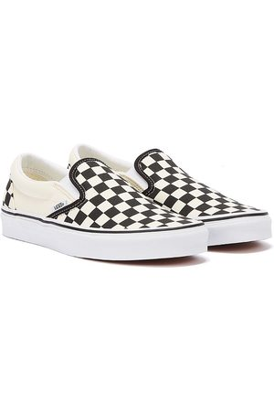 Vans Classic Slip-On Black and Checkerboard Canvas Trainers