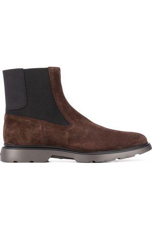 Hogan Men Chelsea Boots - Panelled suede Chelsea boots
