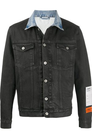 Heron Preston Contrasting-collar denim jacket