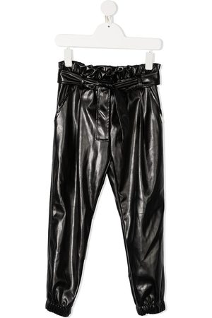 Msgm Ruched faux leather trousers