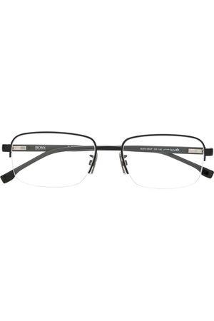 HUGO BOSS Rectangular framed glasses