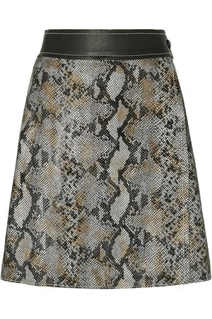Stand Studio Woman Elene Snake-effect Leather Wrap Skirt Size 32