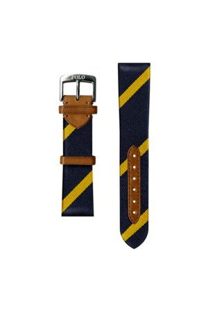 Polo Ralph Lauren Bar-Stripe Silk Watch Strap