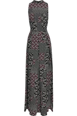 MIKAEL AGHAL Woman Pleated Patchwork-effect Printed Crepe De Chine Maxi Dress Size 10