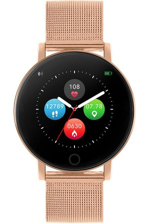Reflex Active Series 5 Smart Watch With Heart Rate Monitor, Colour Touch Screen And Rose Gold Stainless Steel Mesh Strap
