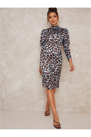 Chi Chi London Coralie Animal Print Midi Dress