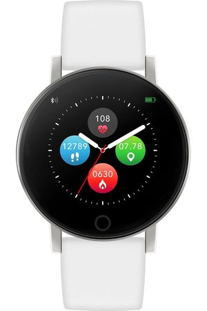 Reflex Active Women Watches - Series 5 Smart Watch With Heart Rate Monitor, Colour Touch Screen And White Silicone Strap