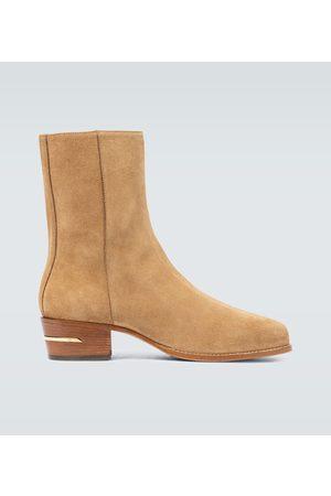AMIRI Suede squared toe boot