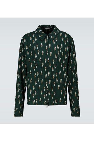 UNDERCOVER Printed wool blouson jacket