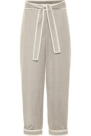 Stella McCartney Wool flannel carrot cropped pants
