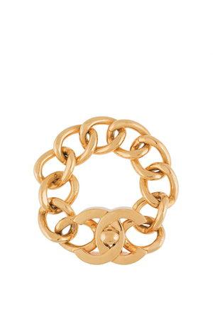 CHANEL 1995 CC turn-lock chain bracelet