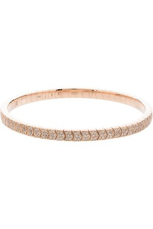 JACQUIE AICHE 14kt rose gold diamond chevron bracelet