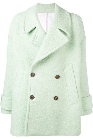 Ami Double-breasted buttoned peacoat