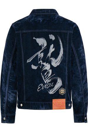 Evisu Discharge Taka Calligraphy Velvet Denim Jacket