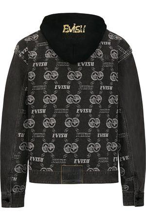 Evisu Jacquard Monogram Denim Jacket