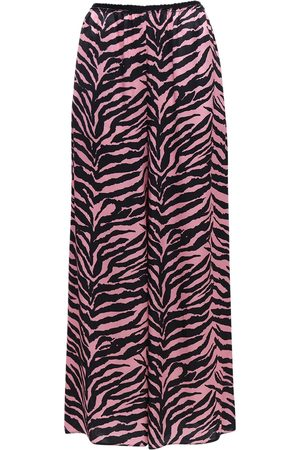 MM6 MAISON MARGIELA Zebra Print Satin Wide Leg Pants
