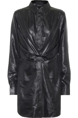 RTA Vivienne faux leather minidress