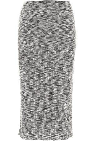 Joseph Printed stretch-wool midi skirt