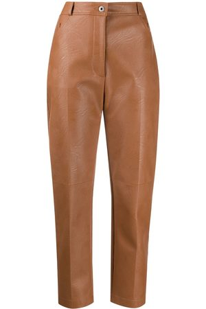 Stella McCartney Hayley faux-leather trousers - Neutrals