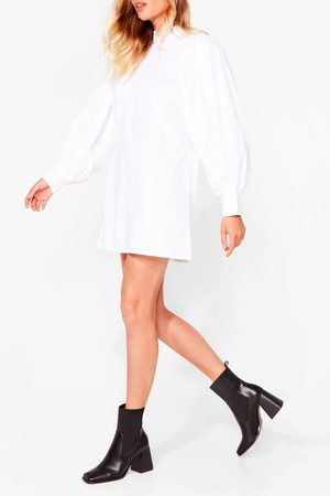 NASTY GAL Womens Couldn't Flare Less Faux Leather Heeled Boots - - 3