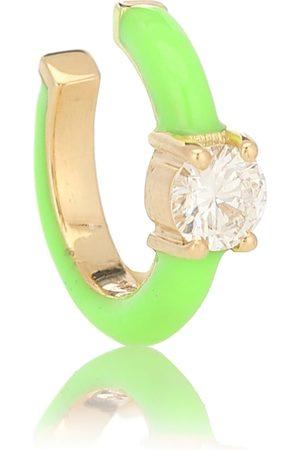 Melissa Kaye Aria U 18kt yellow gold and diamond ear cuff