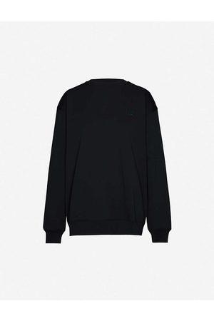 Acne Studios Forba face-applique cotton-jersey sweatshirt