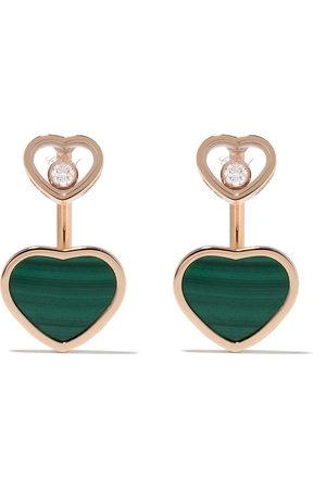 Chopard 18kt rose gold, diamond Happy Hearts earrings