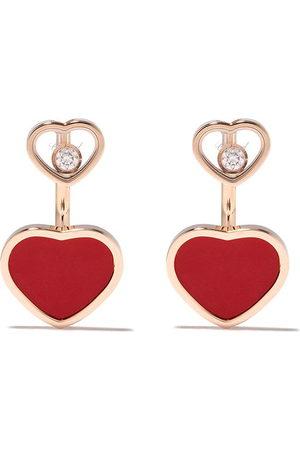 Chopard 18kt rose gold Happy Heart earrings