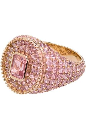 O Thongthai 9kt yellow Fancy Cut tourmaline sapphire ring